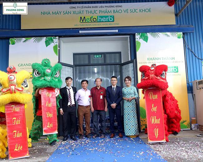 Khánh thành nhà máy sản xuất thực phẩm bảo vệ sức khỏe Metaherb đánh dấu mốc lớn trong sự phát triển của công ty