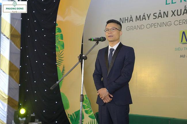 Ông Lê Viết Phương – Tổng Giám đốc Công ty Phương Đông phát biểu tại buổi lễ