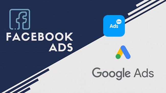 Vị trí quảng cáo Google, Facebook, Zalo