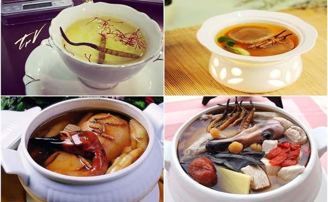 Có nhiều món ăn được chế biến từ Đông trùng hạ thảo