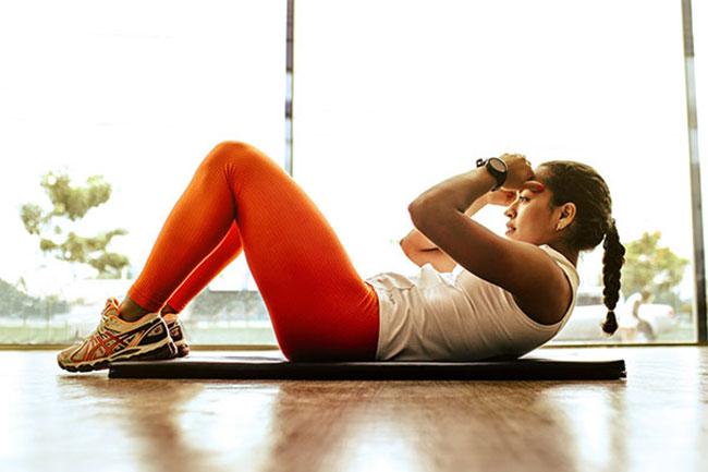 Gập bụng - Bài tập giảm béo bụng hiệu quả