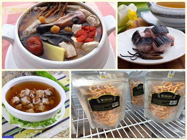 Một số món ăn được chế biến từ Đông trùng hạ thảo Thiên phúc vừa ngon vừa bổ dưỡng