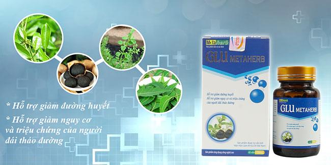 Glu Metaherb với thành phần từ dược liệu giúp hỗ trợ giảm biến chứng mạch máu nhỏ ở người bệnh tiểu đường