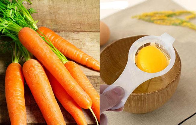 Trứng gà + cà rốt giúp cải thiện chức năng sinh lý nam giới