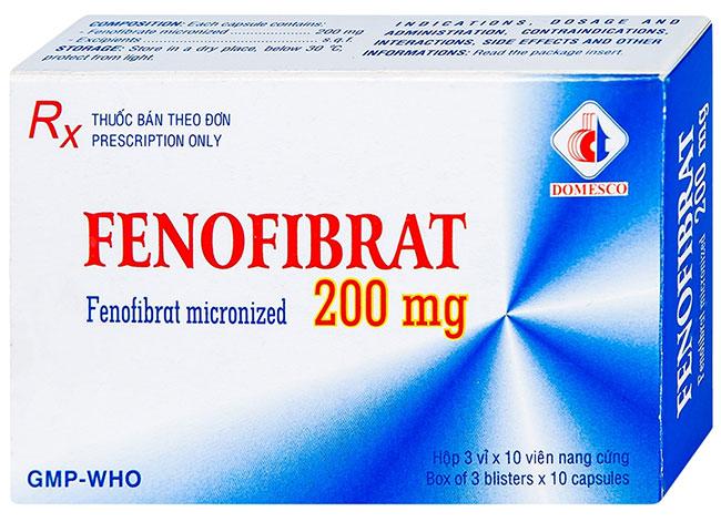 Fenofibrat - Thuốc điều trị máu nhiễm mỡ nhóm fibrat