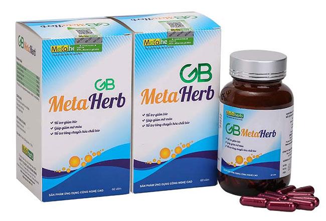 GB Metaherb - Viên hỗ trợ điều trị máu nhiễm mỡ