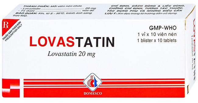 Lovastatin - Thuốc điều chỉnh rối loạn lipid máu nhóm statin