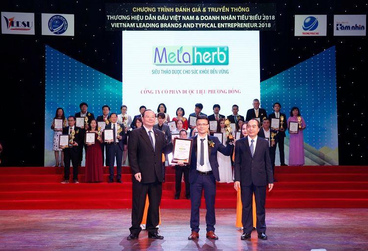 Metaherb vinh dự nhận giải top 10 thương hiệu dẫn đầu Việt Nam
